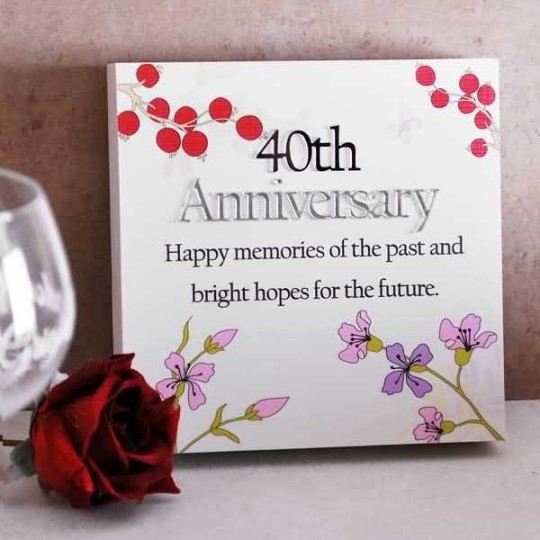 Hy 40th Wedding Anniversary To My Pas Ideas 2018