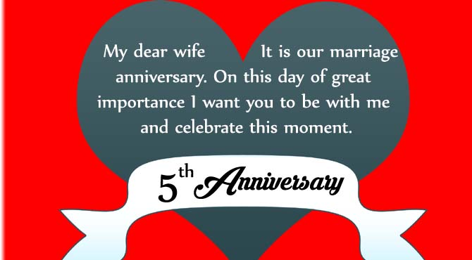 Wedding Anniversary Quotes For Wife.5th Year Marriage Anniversary Wishes Quotes Images