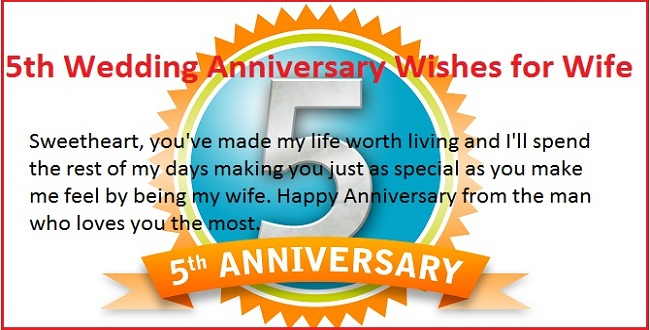 5th Marriage Anniversary Wishes Quotes For Wife